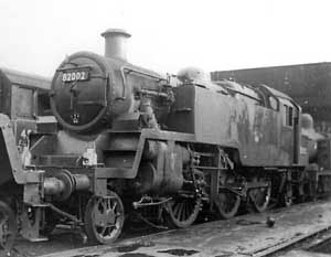 82002 Chester shed LMR, lined green livery. 23th October 1960